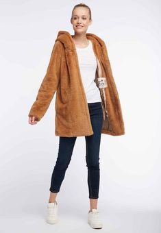 myMo MANTEL - Wintermantel - camel - Zalando.de Fur Jacket, Fur Coat, Sweaters, Jackets, Fashion, Winter Coat, Side Bags, Down Jackets, Moda