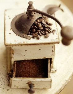 Vintage Coffee Mill, by Richard Jung. My mother-in-law gave one to me just like this one. It had been her daddy's.