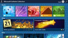 Screenshot: Benvenuto nella nuova versione di Microsoft Solitaire Collection con grafica aggiornata per Windows 10!