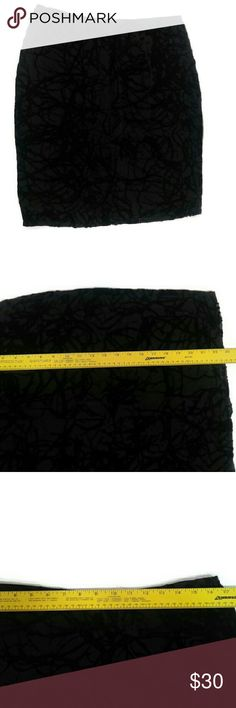 """Black Velvet Mesh A Line Skirt 🌺 Excellent Condition! Like New! Not flaws. Size L Black Side Zip Closure.   Elegant black velvet contemporary design.  Measurements lying flat: Waist 16"""", Hips 21"""". Please,review pics.   Contact me if you have questions. Smoke/Pet free home.   💋❤️🌷Save, Save, Save! 💋❤️🌷  💵👍🏻💰❤️ 30% off 3+ Bundles ❤️💰👍🏻💵 Max Studio Skirts A-Line or Full"""