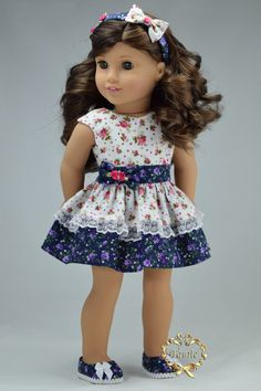 American girl doll clothes Special Occasion 3 by PurpleRoseNY
