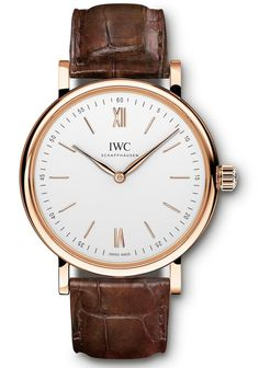 """IWC Watches Portofino Hand-Wound Pure Classic Watch - by David Bredan - have a look beneath the rather """"simple"""" dial - there's more on aBlogtoWatch.com """"Despite the latest technical breakthroughs in forging new materials, creating new in-house movement designs, or manufacturing rugged watches for 'ingenieurs,' the general appeal of simple and refined dress watches is something no luxury brand can ignore..."""""""
