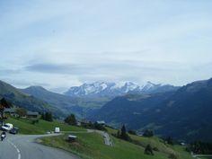 Massif du mont   blanc route des saisies très jolie