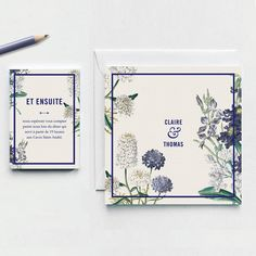 Botanical Garden Wedding Invitation. A personalized stunning rustic chic invitation with a floral design. A natural look for your wedding announcement.