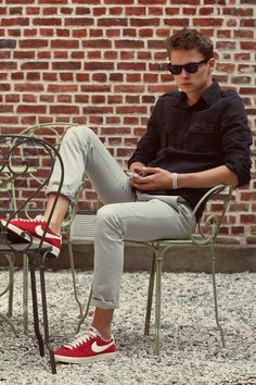 da09512186a1b  smartcasual  streetstyle  style  mensstyle  manstyle  menswear  fashion   mensfashion. Red Sneakers ...