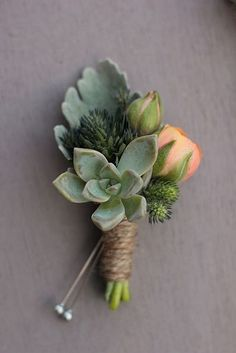 Succulents are a perfect addition to any boutonniere. - - Succulents are a perfect addition to any boutonniere. Succulents are a perfect addition to any boutonniere. Cactus Wedding, Floral Wedding, Diy Wedding, Wedding Bouquets, Wedding Ideas, Corsage Wedding, Elegant Wedding, Ranunculus Wedding, Wedding Inspiration