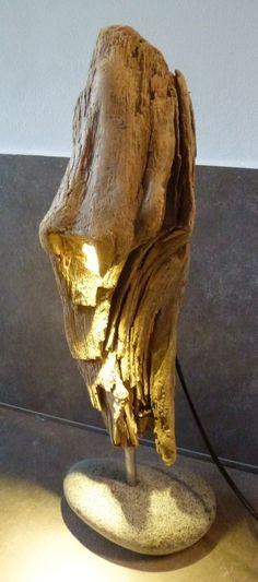 unikate holzlampe aus treibholz vom bodensee masse:36x20 cm