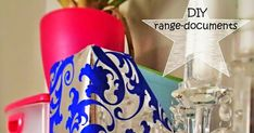 DIY porte-revues range-documents Range Document, Paper Storage, Deco, Energy Drinks, Red Bull, Home, Ideas, Organizers, Cartonnage Tutorials