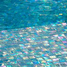Bisazza glass mosaic tile installation by jimmy reed rock for Most popular pool colours