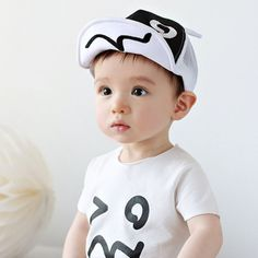 Hot Sales Baby Kid Boy Girl Baseball Hat Blink Eye Printed Ears Style Infant Mesh Hats Adjustable Snapback Toddler Sun Casquette