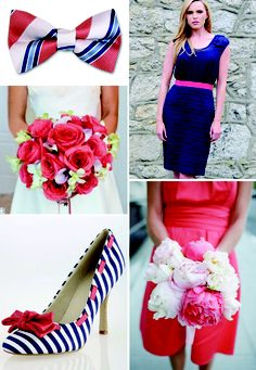 Wedding Wednesdays: Coral and Navy Weddings « Under A Peacock Moon