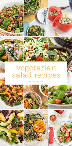 These healthy vegan and vegetarian salad recipes are hearty, satisfying and make use of substantial ingredients like beans, potatoes, whole grains and more.