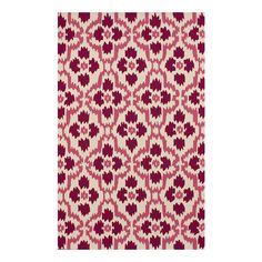 Hand-tufted rug with an ikat tile motif.  Product: RugConstruction Material: PolyesterColor: Pin...