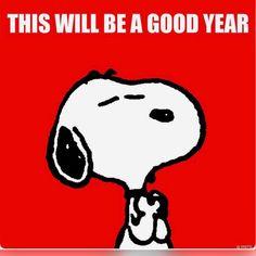 2017 will be a good year. Peanuts Cartoon, Peanuts Snoopy, Snoopy Cartoon, Snoopy New Year, Snoopy Friday, Snoopy Family, Snoopy Pictures, Funny Pictures, Joe Cool