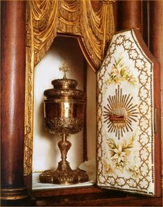 Tabernacle above the main altar at the Carmel Convent of Lisieux at the time of St Therese.