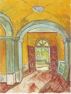 Van Gogh, Entrance Hall of Saint-Paul Hospital, 1889.