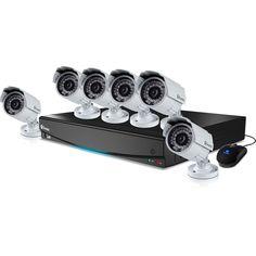 Swann Professional  Security System 8 Channel 960H DVR  6 Pro 842 900TVL Cameras #Swann