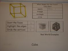 3D shapes flip book.  Just print, fold, and staple!