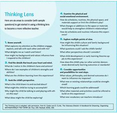 A Thinking Lens