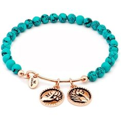 Chrysalis Creativity Green Simulated Turquoise Pink Expandable Bangle... ($49) ❤ liked on Polyvore featuring jewelry, bracelets, bangle bracelet, pink bangle bracelet, 14 karat gold bangle bracelet, green jewelry and hinged bangle