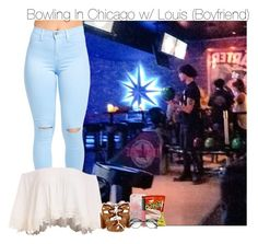 """Bowling In Chicago w/ Louis (Boyfriend)"" by fangirl-1d ❤ liked on Polyvore featuring Lipsy, Bobbi Brown Cosmetics and NARS Cosmetics"