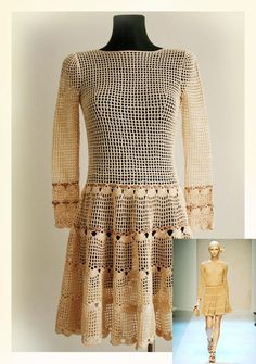 Looking for your next project? You're going to love Women's dress / Crochet Pattern No 555 by designer Ilona Ilona.
