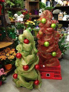 Tomato Cage Christmas tree's #christmastree