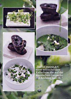 Erbsen-Gazpacho Olivenkrokant Ziegenkäse - Rezept von Juan Amador - aus Tapas & Snacks, 2013 Heel, Königswinter