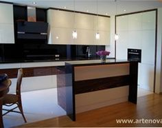 Kuchnia na Wilanowie - zdjęcie od ARTENOVA - Projektowanie i Produckja Mebli Flat Screen, Kitchen, Furniture, Home Decor, Saints, Blood Plasma, Cuisine, Homemade Home Decor, Home Kitchens