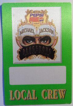 Michael Jackson 2 Vintage Backstage Passes Victory Tour 84 Buffalo Pepsi Dangerous Local Crew Safely Stored For Over 28 Years and in NM Condition  This Will be a great Gift for any Fan  Shipping will be within 2 days of your payment  All Sales are Guaranteed Satisfaction  We are Fans so we know what fans Expect  THEMIGHTYFINWAH Pepsi, All Sale, Michael Jackson, Backstage, Victorious, Buffalo, Great Gifts, Fans, Tours