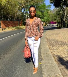 """2,852 Likes, 31 Comments - Sindi Dlamini - Mamba (@lendisi) on Instagram: """"👋🏽👋🏽 Top    My own creation (obsessed) Pants    Sissy Boy Shoes    CL Bag    C&K Shades   …"""""""