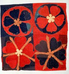 Swedish Intarsia (embroidery), Historiska Museumet, felt, 1300's (Late Middle Ages).