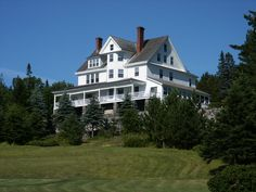 The beautiful and luxurious Blair Hill Inn overlooks Moosehead Lake in Greenville, Maine.