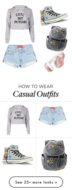 """""""Casual day out"""" by cool3344 on Polyvore featuring Converse and Beats by Dr. Dre"""