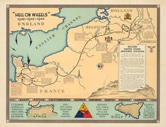 2nd Armored Division Map
