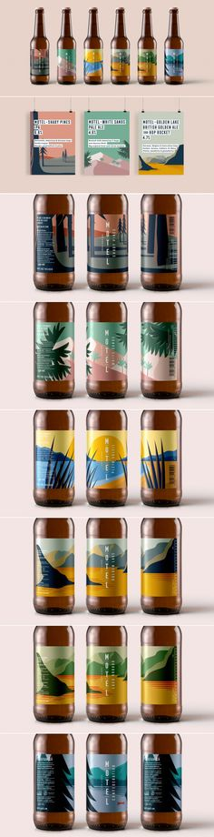 Motel beer packaging by marie-marie | Fivestar Branding Agency – Design and Branding Agency & Curated Inspiration Gallery #beer #packaging #branding #design #designinspiration #packaginginspiration #packagingdesign #behance #pinterest #dribbble #fivestarbranding