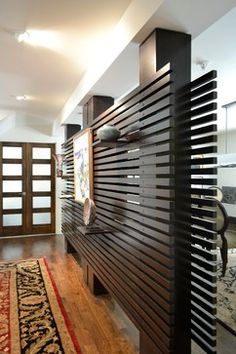 Slat Wall modern dining room
