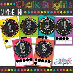 Chalkboard Theme Decor Bundle - Black and Bright