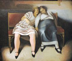 """""""Two Tired Women"""" - Ernst Neuschul - 1925."""