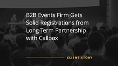 For more than 4 years now, Callbox has been a strategic partner for this international events organizer, which gained registered attendees in one of its conferences thanks to Callbox's end-to-end events marketing solution. Marketing Channel, Event Marketing, Event Organiser, Event Organization, Impact Event, Drive Online, Cyber Threat, Advertising Services, Event Company