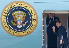 President Obama boarding Air Force One