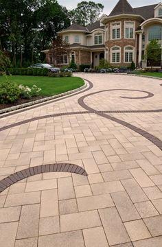 9 Unique Ideas Can Change Your Life: Patio Paving Pergolas patio wall art.Brick Patio Fence patio pavers on a budget.Patio Pavers On A Budget. Driveway Design, Driveway Landscaping, Patio Design, Driveway Ideas, Driveway Paving, Patio Fence, Patio Wall, Concrete Paving, Cement Patio
