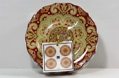 222 Fifth Lyria Saffron Fine China Porcelain Appetizer Plates Set of Four New #222Fifth