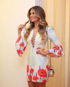 Cute poppy print dress