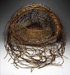 Open Weave Basket by Lillian Elliott / `