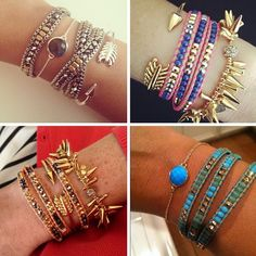 I love how wrap bracelets give the look of multiple bracelets in one.