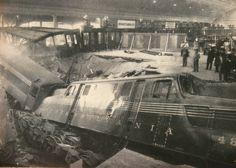 Runaway Train Crashes Through Washington DC Union Station Lobby (January 1953).