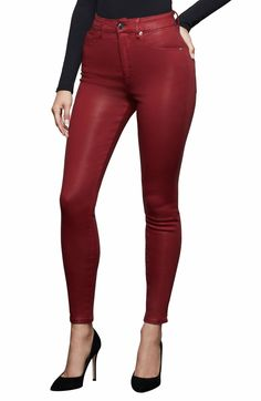Cropped Skinny Jeans, Skinny Legs, Red Jeans, Women's Jeans, Cashmere Wrap, Contemporary Fashion, Plus Size Fashion, Leather Pants, Clothes For Women