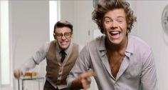 I will forever repin this. Harry and Marcel Best Song Ever {gif}=perfection lol
