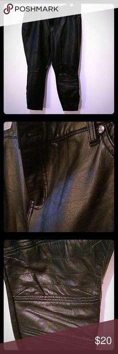 Leather leggings brand new never worn These black leather leggings are form fitting. torrid Pants Leggings